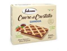 Cuore di crostata crema gianduia Falcone zoet